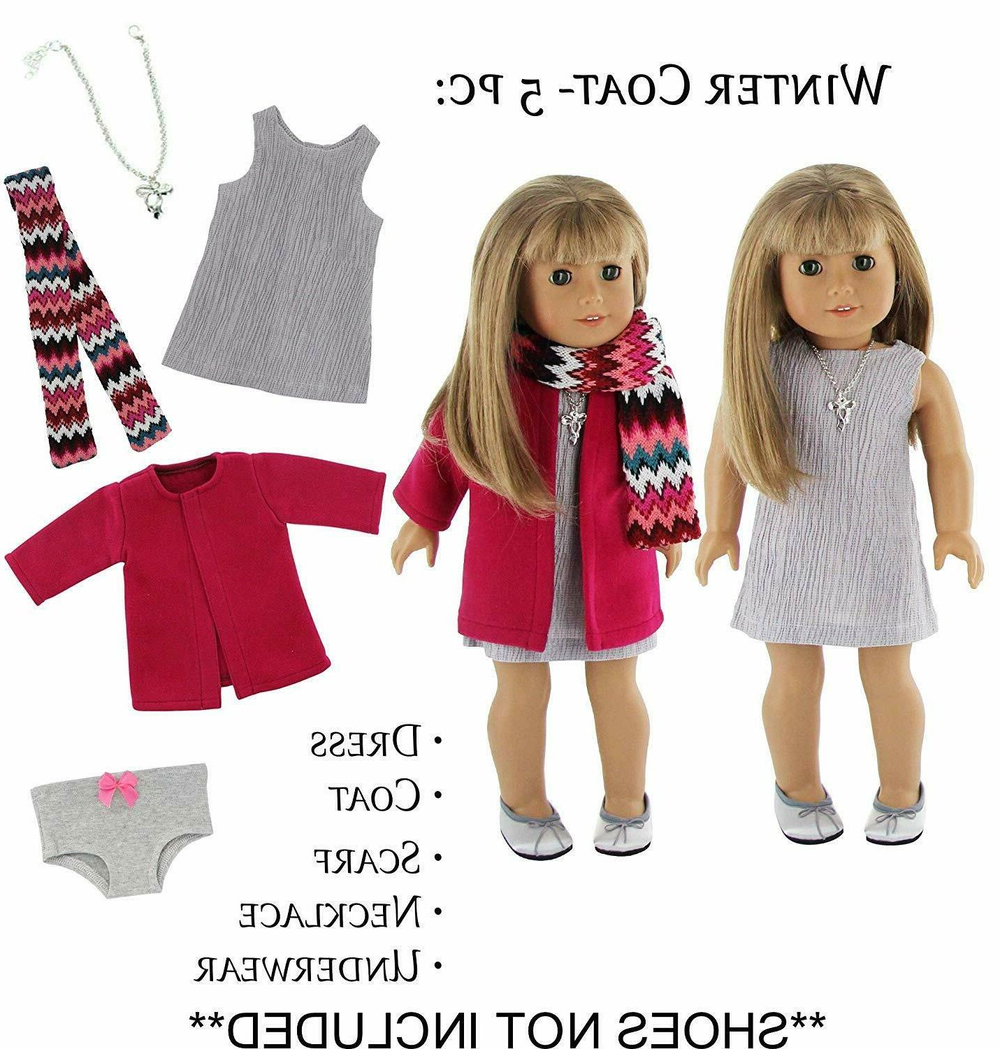 Doll Clothes Winter Outfit Coat Set Girl