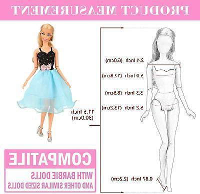 BARWA Doll Fashion Dress Tops 5 Outfit Wedding 11.5inch