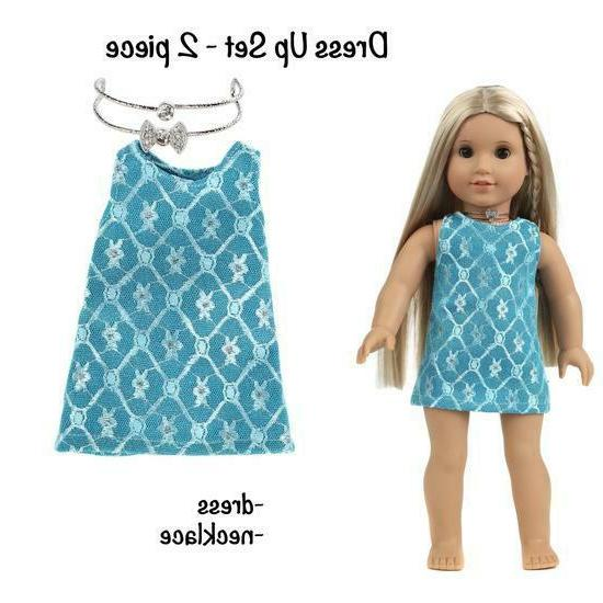 DOLL CLOTHES ACCESSORIES FITS 18 DOLLS