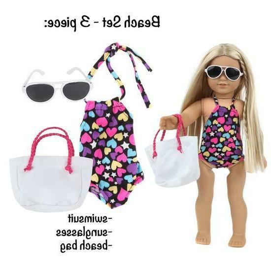 DOLL CLOTHES AND ACCESSORIES FITS 18 INCH