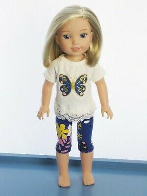 "Doll Blue Pants Set For 14.5"" American Girl 2PC"
