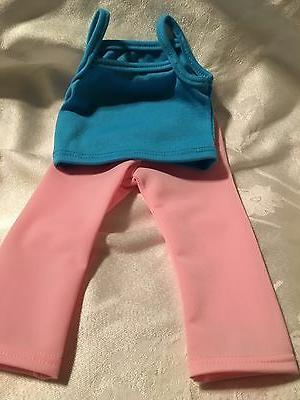doll clothes blue top and pink leggings