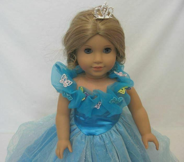 "DOLL - CINDERELLA DRESS - FITS AMERICAN GIRL 18"" DOLLS"