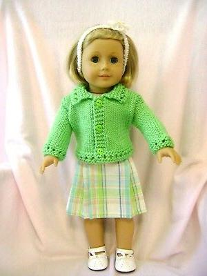 doll clothes cute skirt sweater set fits