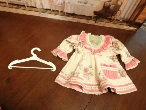 doll clothes dress and hanger lot