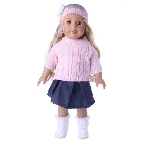 Doll Clothes Dress Pajames 18 American Girl Accs