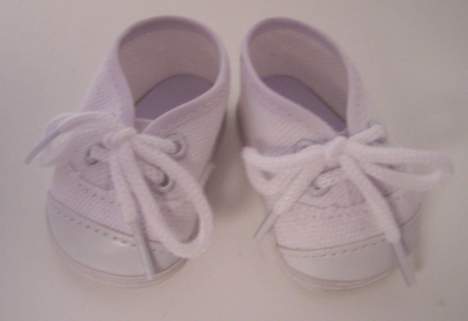 Doll Clothes for inch American White Canvas Tennis Sneakers