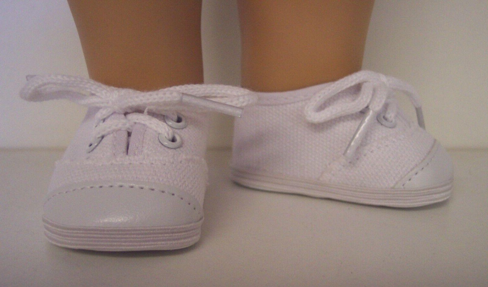 Doll for inch Girl White Canvas Sneakers