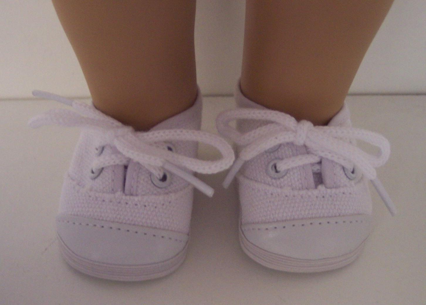 Doll Clothes for inch American - White Tennis Sneakers