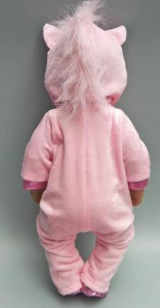 "Doll clothes for 43cm born Baby doll coat unicorn hoodie set 17/"" reborn baby dol"