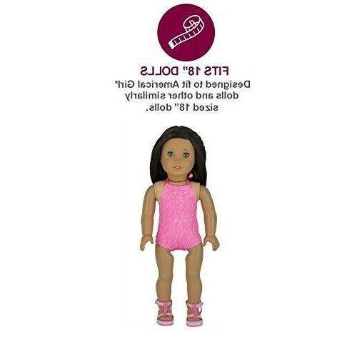 PZAS Toys Doll Clothes for American Wardrobe 10 Outfits