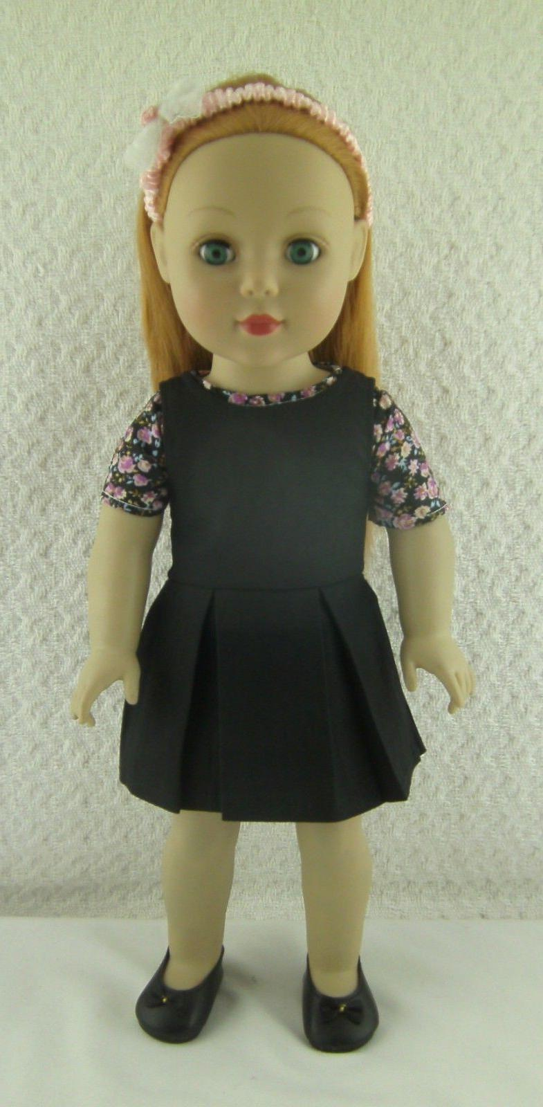 """18/"""" doll clothes-fit American Girl Generation My Life-Dress-White w//Pale Pink Fl"""