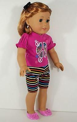 "DOLL CLOTHES LEGGINGS EARRINGS FOR AMERICAN GIRL OR 18""  DOL"