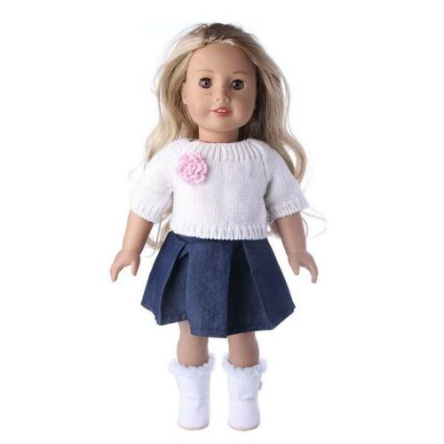 Doll Clothes Dresses For American 18 Inch Dolls Outfit