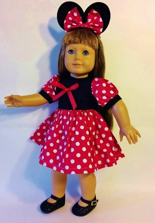 "Doll 18"" Outfits #34 C Minnie Mouse Soccer"