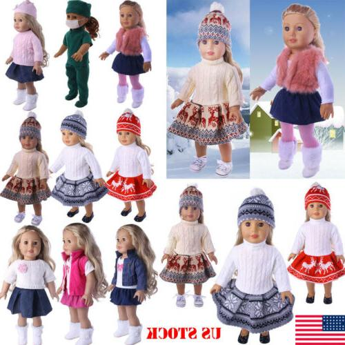 doll clothes pajames laceskirt for 18 american