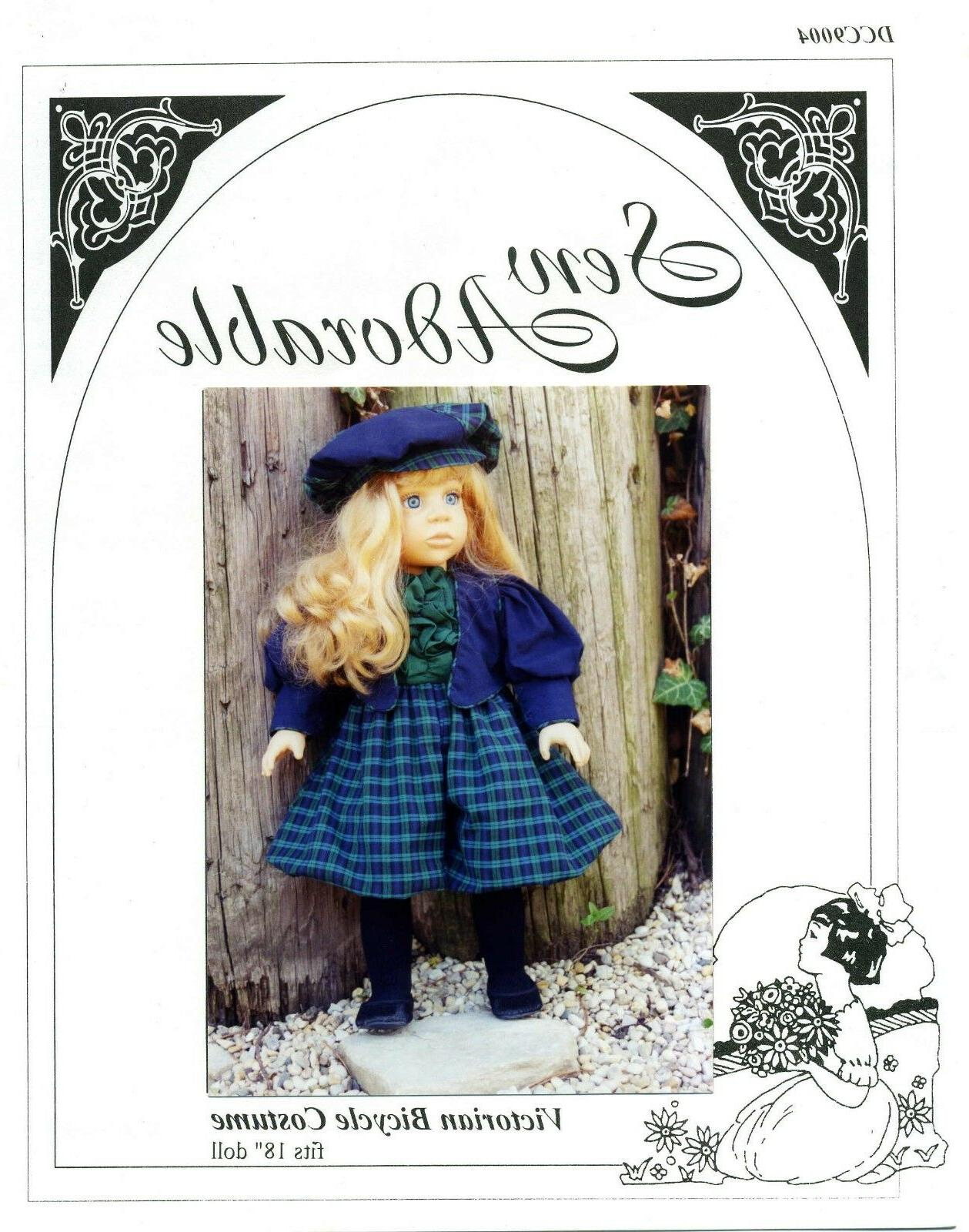 doll clothes pattern 18 american girl victorian
