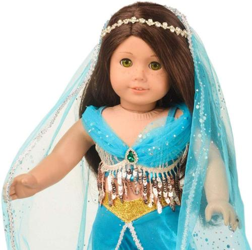 sweet dolly Doll Princess Jasmine Costume 18 inch American Doll