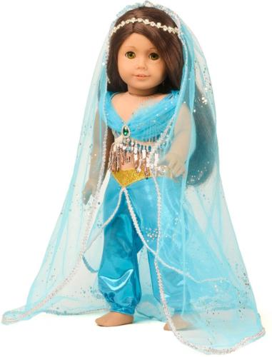 sweet dolly Clothes Princess Jasmine Costume for 18 inch Doll