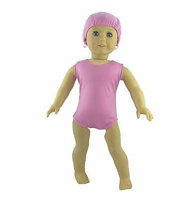 doll clothes purple swim suit and cap