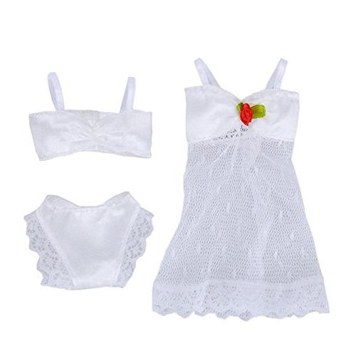 elegantstunning Doll Pajamas Braces Skirt Set for Multicolor