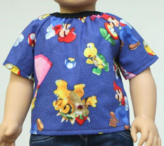 Doll clothes American Boy and dolls Mario Video NEW
