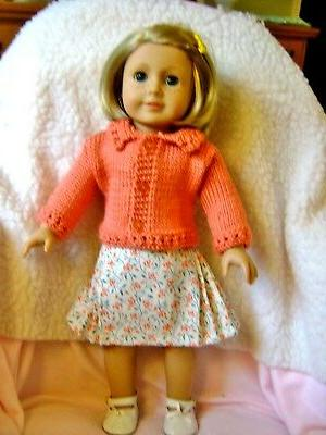 doll clothes skirt sweater set fits american