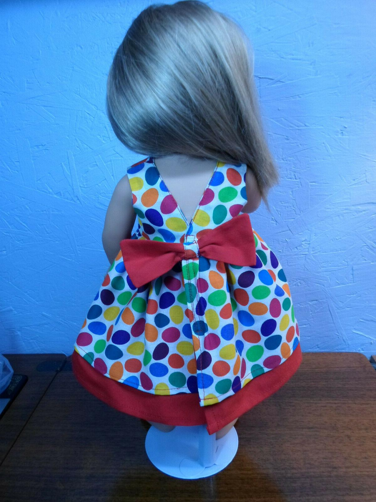 DOLL DRESS NEW custom bow primary Easter fit my