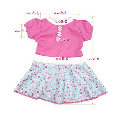 AOFUL Baby Clothes, Custom Design Patterns Fits 16 inch Girl