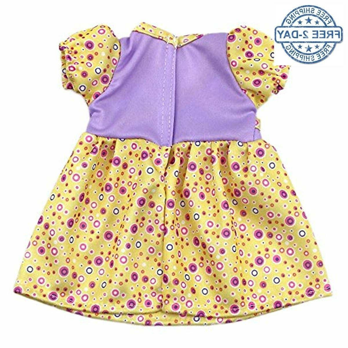 Doll Dress Clothes for Baby Bitty Doll, Small Decoration Doll Dr...