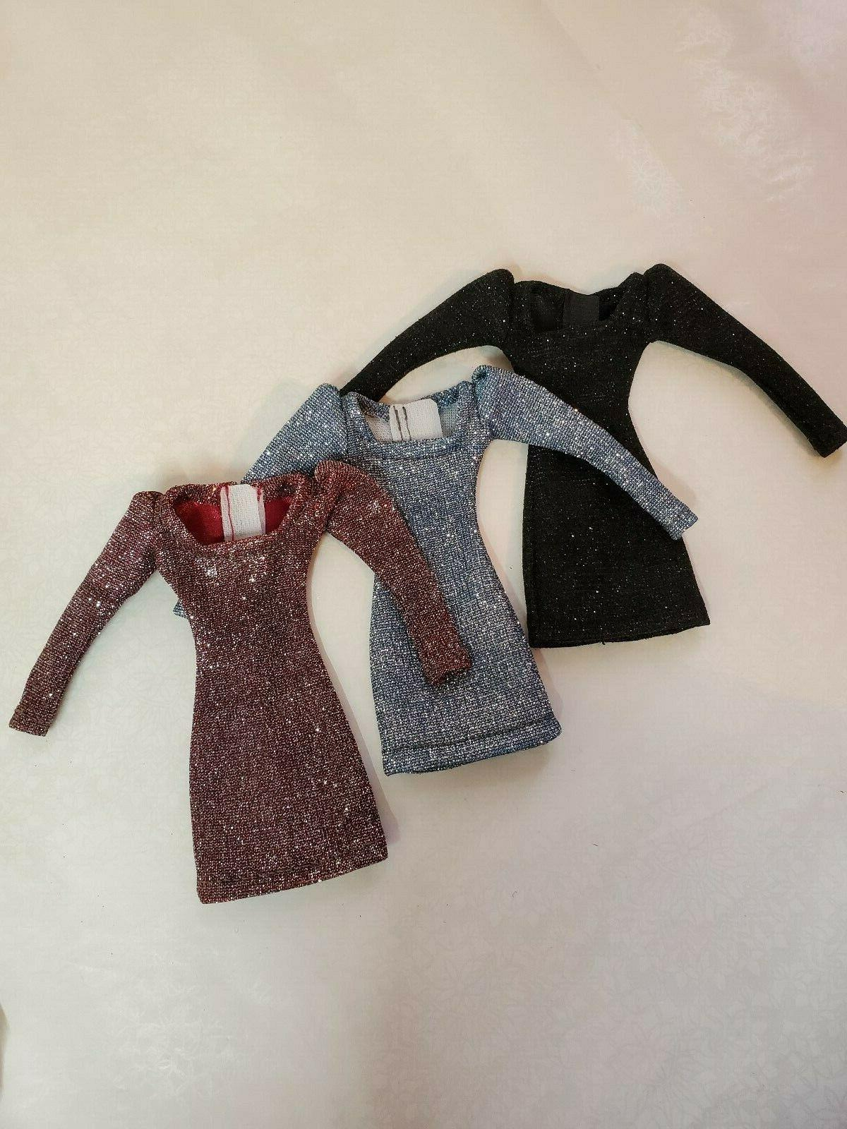Doll dress sleeves-Handmade clothes for