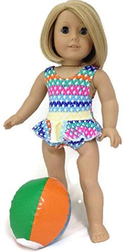 "Doll Clothes Fits 18"" American Girl Dolls Colorful Print 1 p"