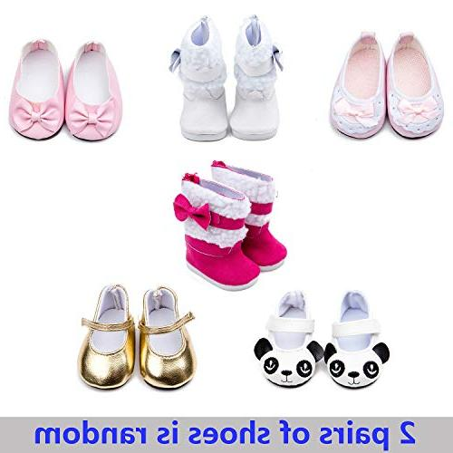 Howona Clothes Gift Girls - Include Set Doll + 2 Pairs Shoes Accessories American