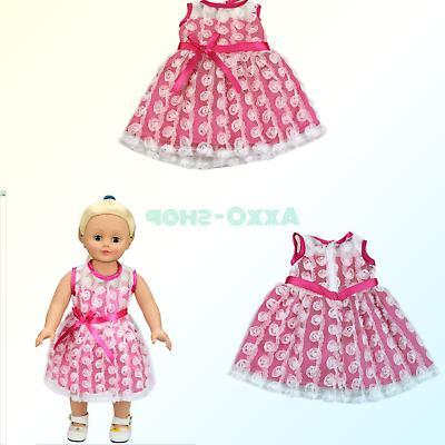 doll pretty dress fits american