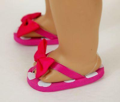 """Doll Girl 18"""" Pink Sandals Accessories Clothes"""