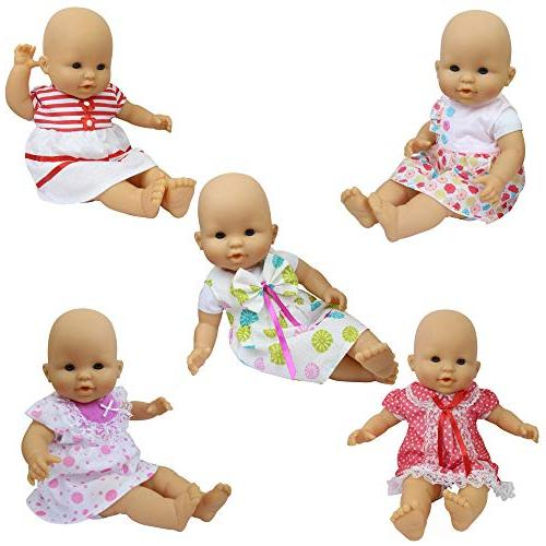 ZITA Clothes - 5 Sets Handmade Dresses for 14-16 Alive Doll and Inch Girl Gift
