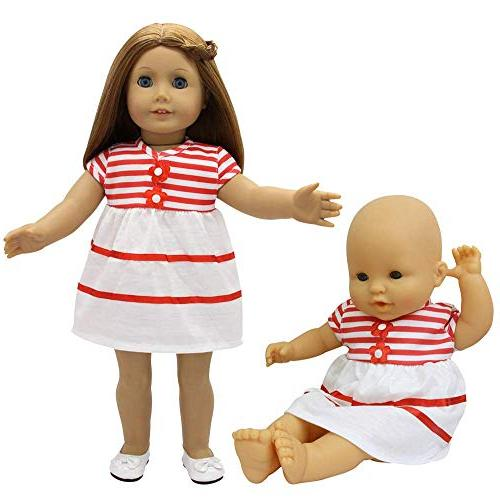 ZITA Clothes - Handmade Dresses Cute for 14-16 Doll 18 Inch Girl Xmas Gift
