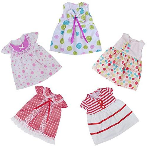 ZITA Clothes Handmade Dresses Cute Clothing for Inch Doll and American Inch Doll Gift
