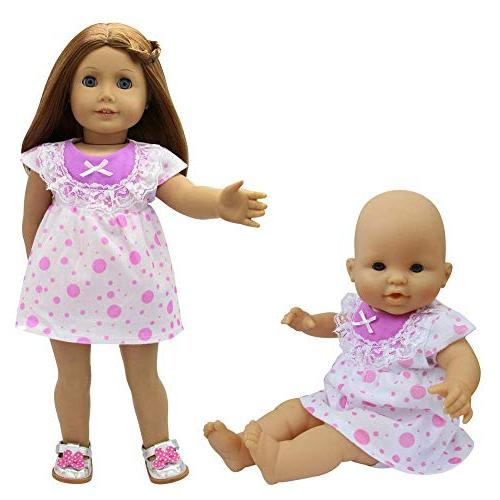 ZITA ELEMENT Clothes 5 Handmade Cute for Inch Alive Doll and American Inch Girl Doll Xmas Gift