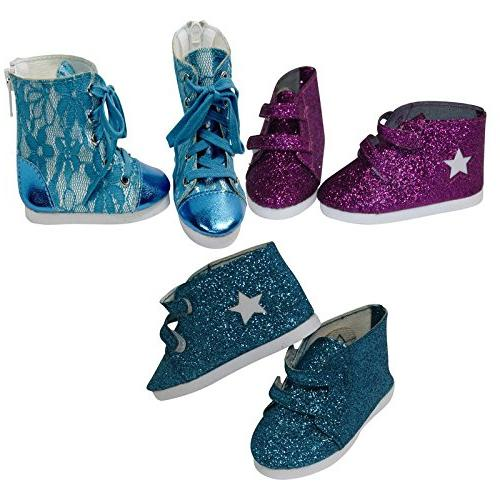 doll value glitter purple boots