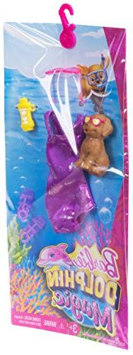 NEW Barbie Doll Clothes Bathing Suit Dolphin Magic Tropical Set Fashion Pack
