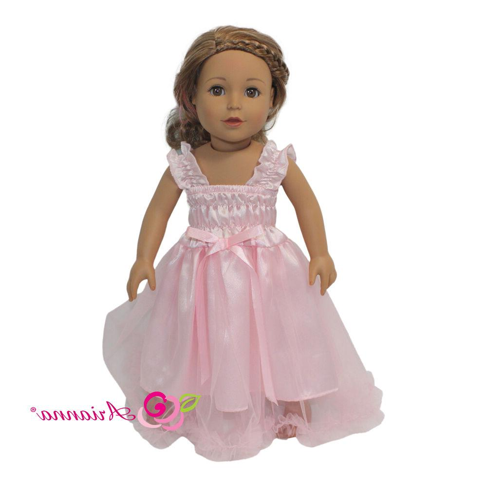 Arianna Dreamin In Pink Nightgown Fits Most 18 inch Dolls