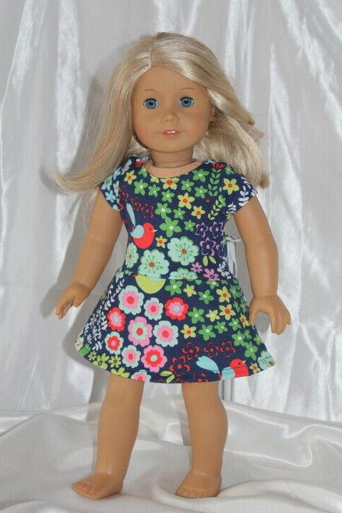 Dress Girl Doll Clothes Print