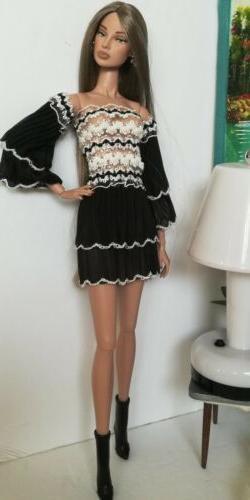 Dollsydoll- dress one size fits 12 inch fashion dolls! Doll