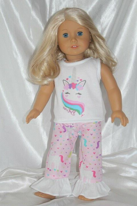 Dress Outfit fits 18 inch American Girl Doll Clothes Unicorn