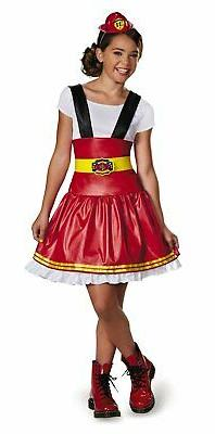 Disguise Dress Up Dolls Fire Girl Tween Costume, Medium