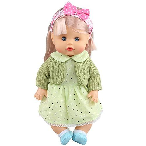 JING SHOW of Alive Lovely Baby Gown Dress Accessories Outfits Fits 12inch Doll Bitty