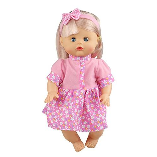 JING SHOW of 6 Baby Gown Dress Accessories Outfits Fits Doll