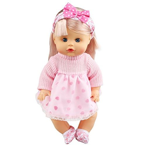 JING SHOW BUSSINESS Pack of Alive Lovely Baby Accessories Outfits 12inch Doll Bitty Baby