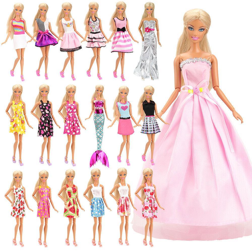 Barwa Fashion 55 Doll Accessories Random Dresses +40